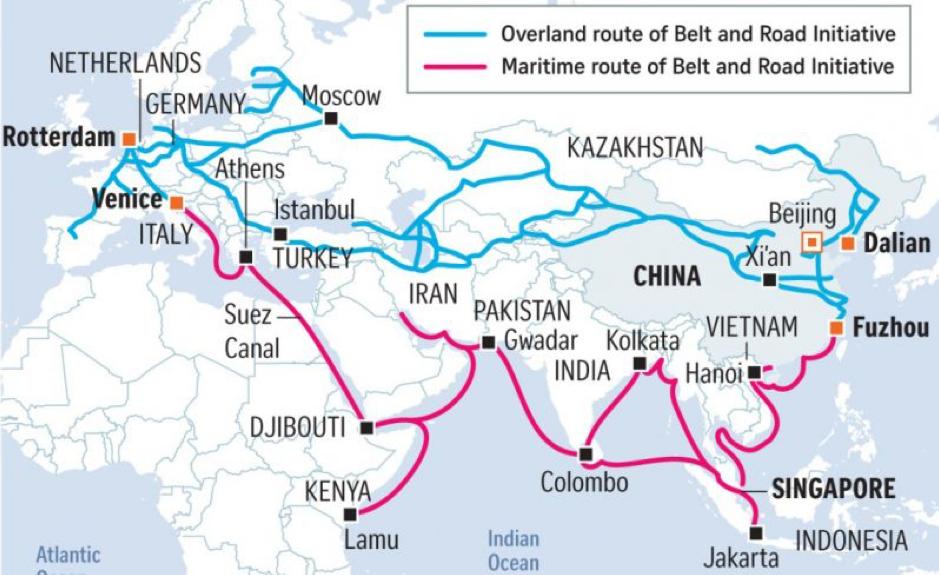 Figure 3 Belt and Road Initiative (BRI) Map