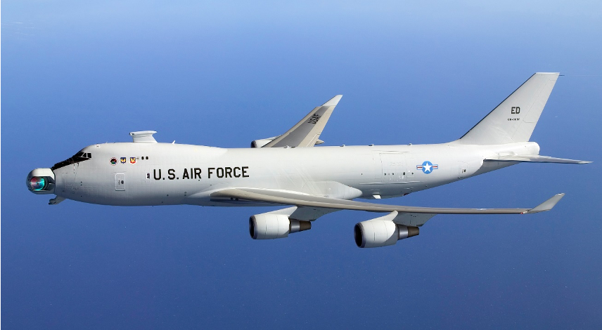 Figure 1- An image of Boeing YAL-1 aircraft, that cancelled in 2011
