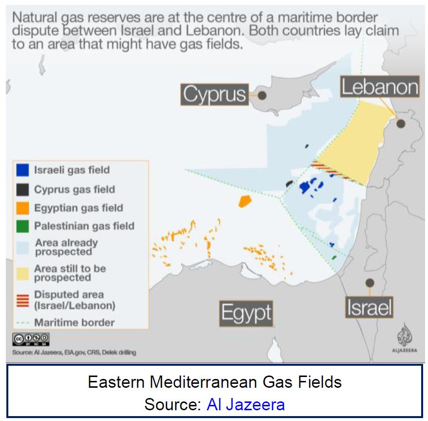 eastern mediterranean gas fields