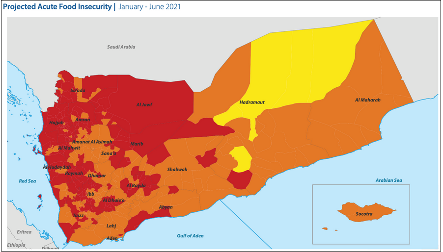 projected acute food insecurity yemen