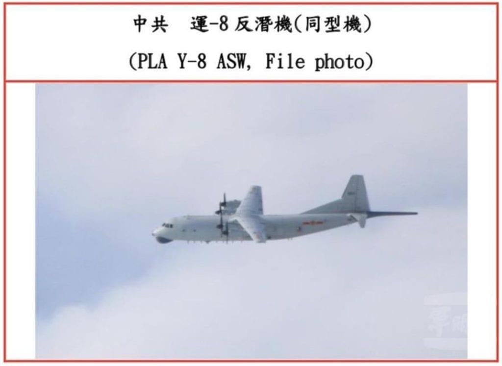 The CCP transported 8 anti-submarine aircraft