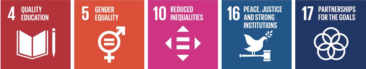 By our activities, we support achieving the following UN Sustainable Development Goals Beyond the Horizon ISSG